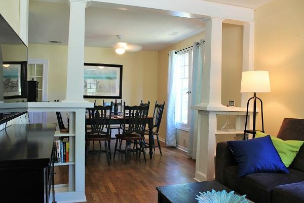 Garden Cottage - Living Room & Dining Room