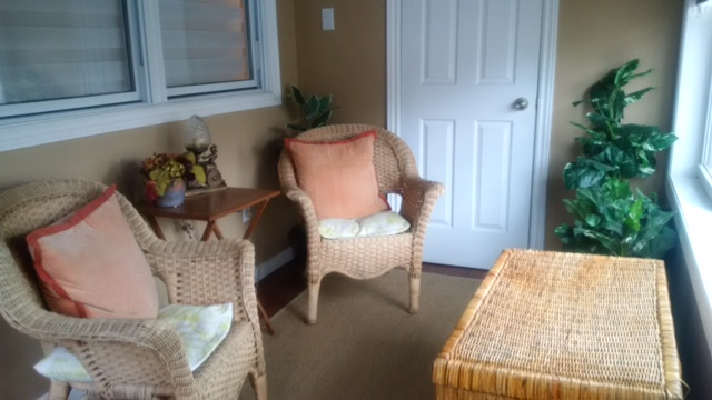 Derby Retreat Crystal Beach Cottage Rentals Front enclosed porch
