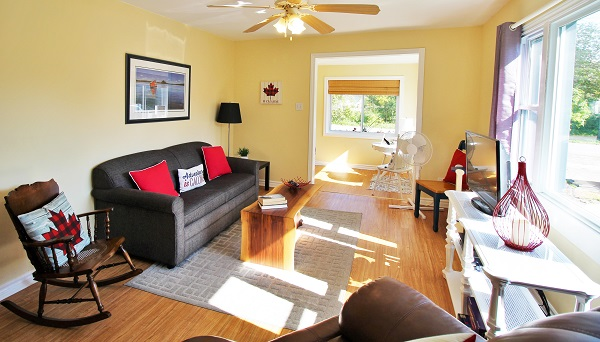 Sunnyside Place - Living Room 3 - Crystal Beach Cottage Rentals