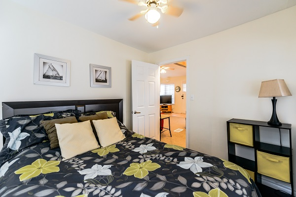 Bedroom 1 (queen) - Shady Sands Retreat - Crystal Beach Cottage Rentals - Lake Erie