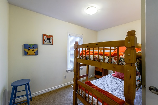 Bedroom 3 (twin bunks) - Shady Sands Retreat - Crystal Beach Cottage Rentals - Lake Erie