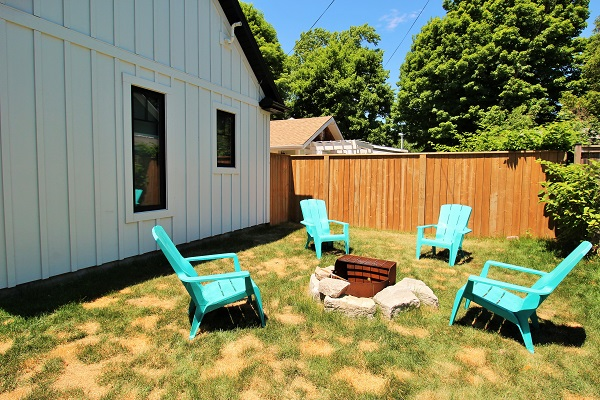 Summer Wind - fire pit - Holiday Homes Property Management - Crystal Beach