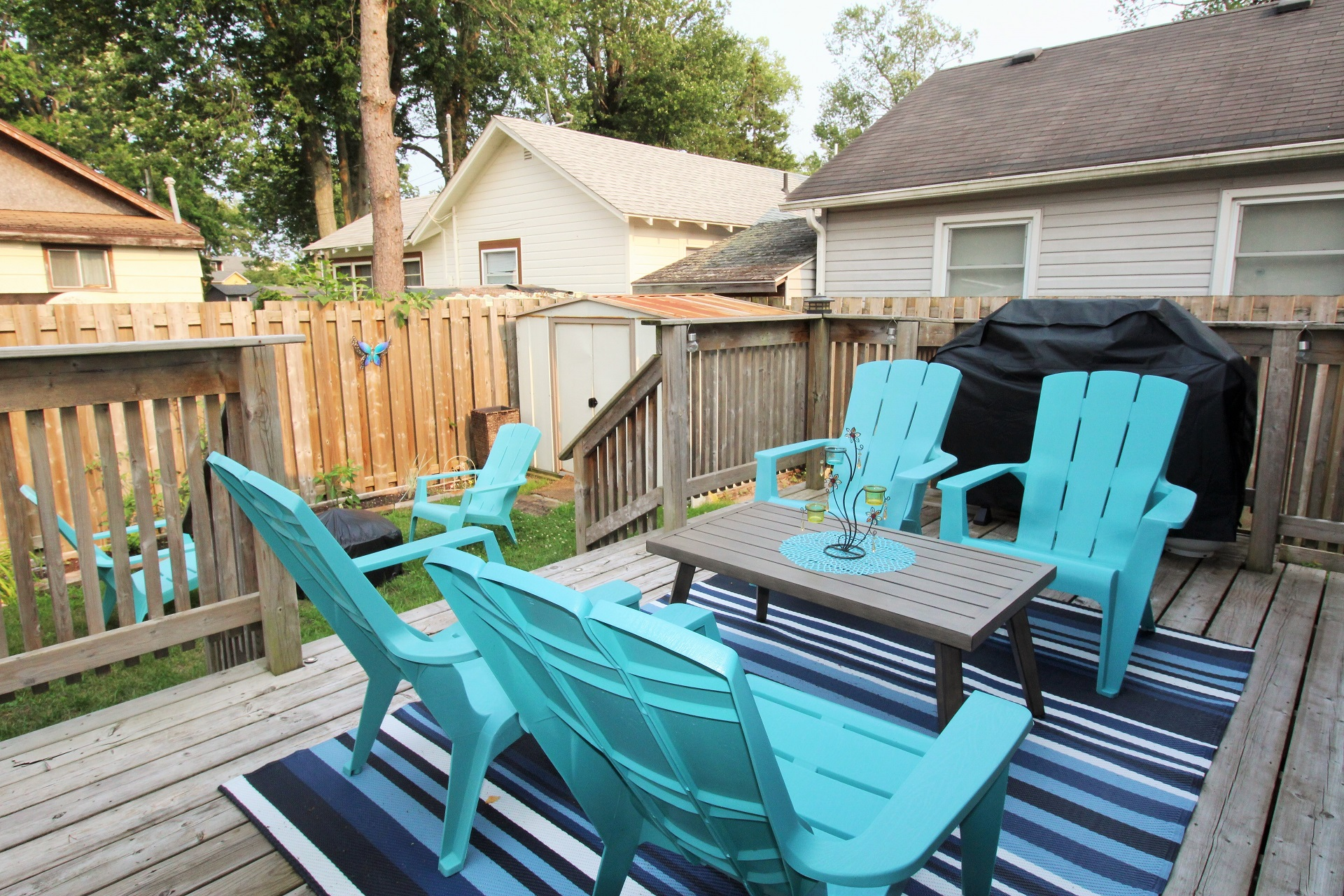 Mary Jane's Haven - back deck 2 - Crystal Beach - Holiday Homes Property Management