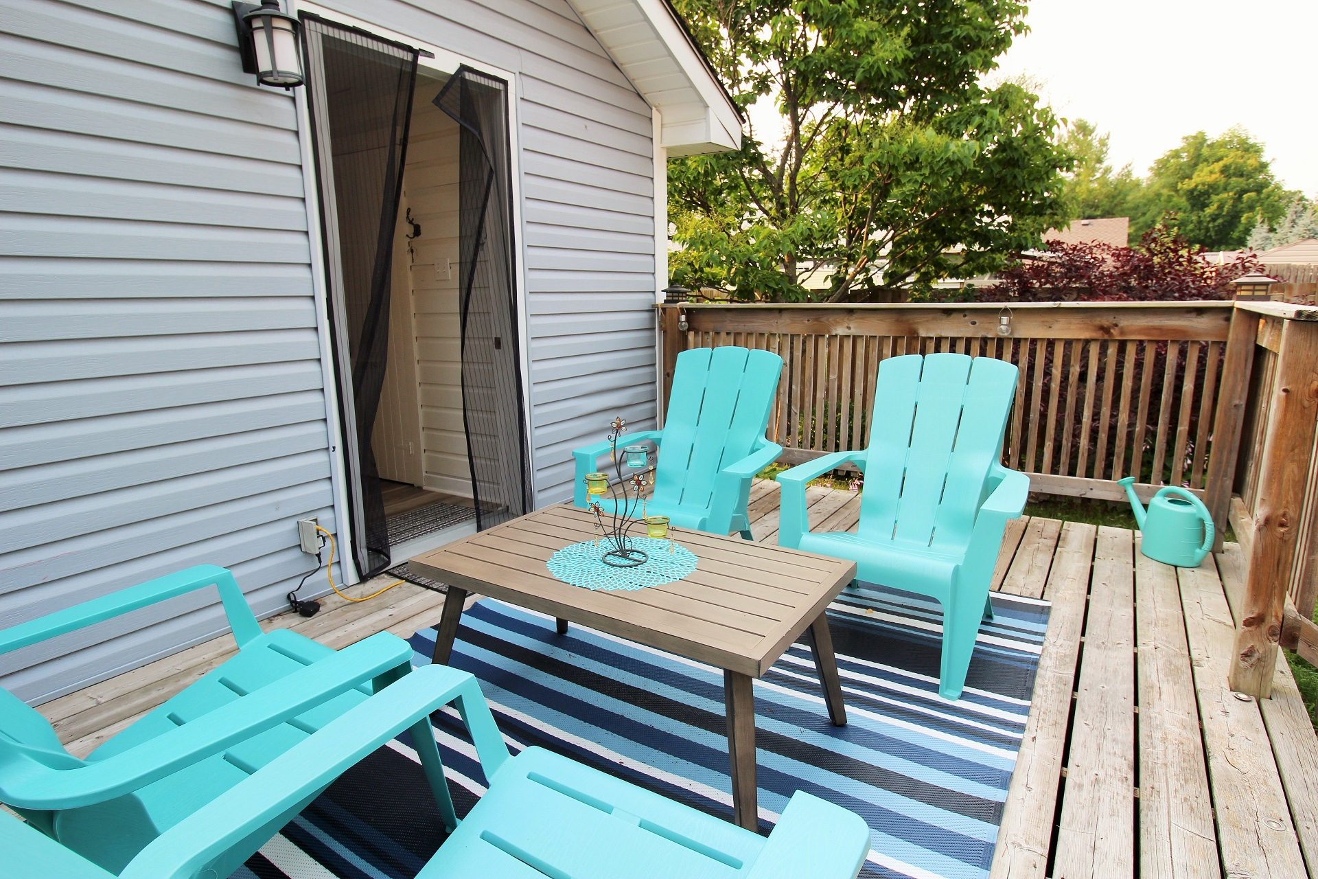 Mary Jane's Haven - back deck 3- Crystal Beach - Holiday Homes Property Management