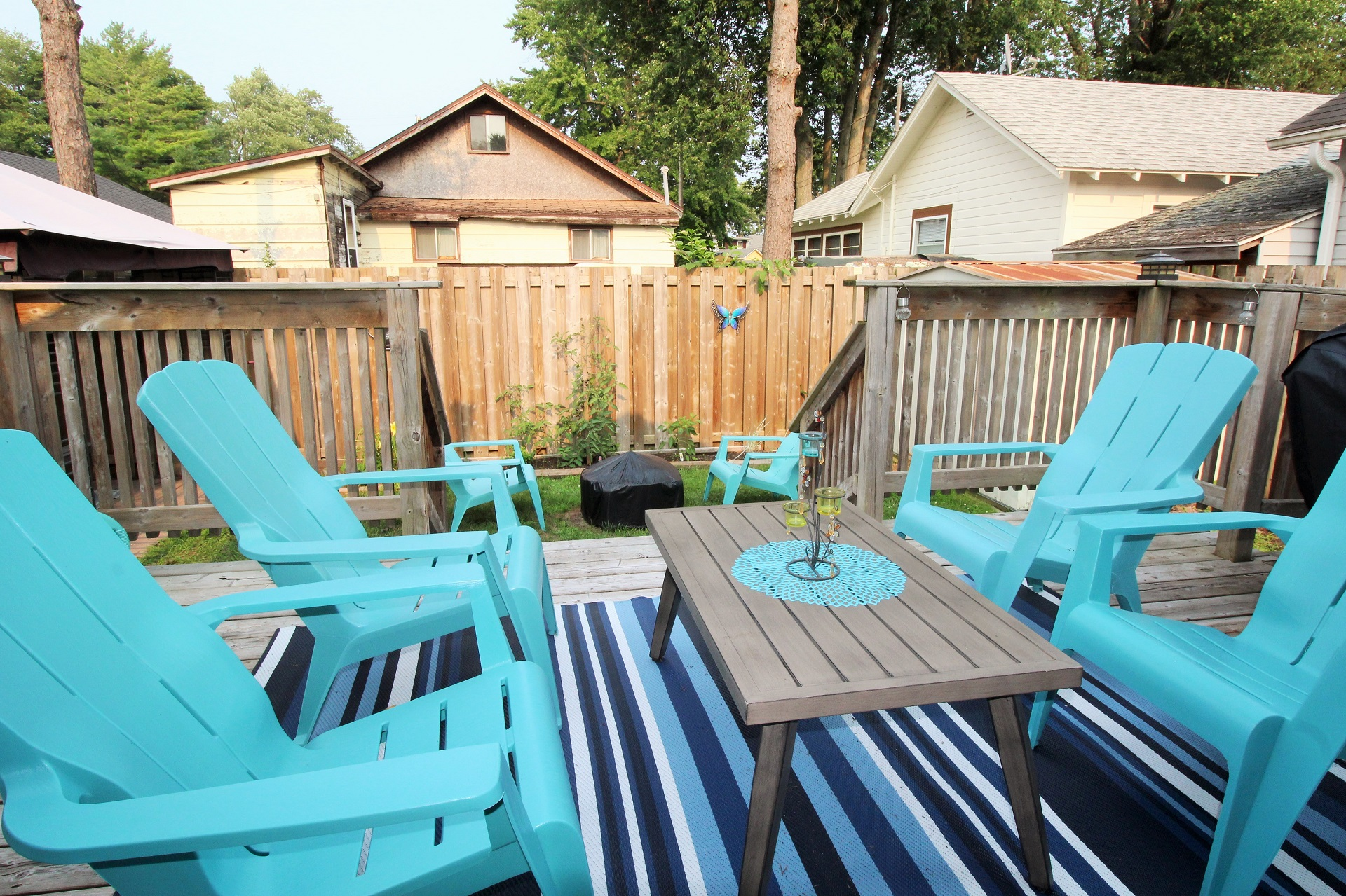 Mary Jane's Haven - back deck - Crystal Beach - Holiday Homes Property Management