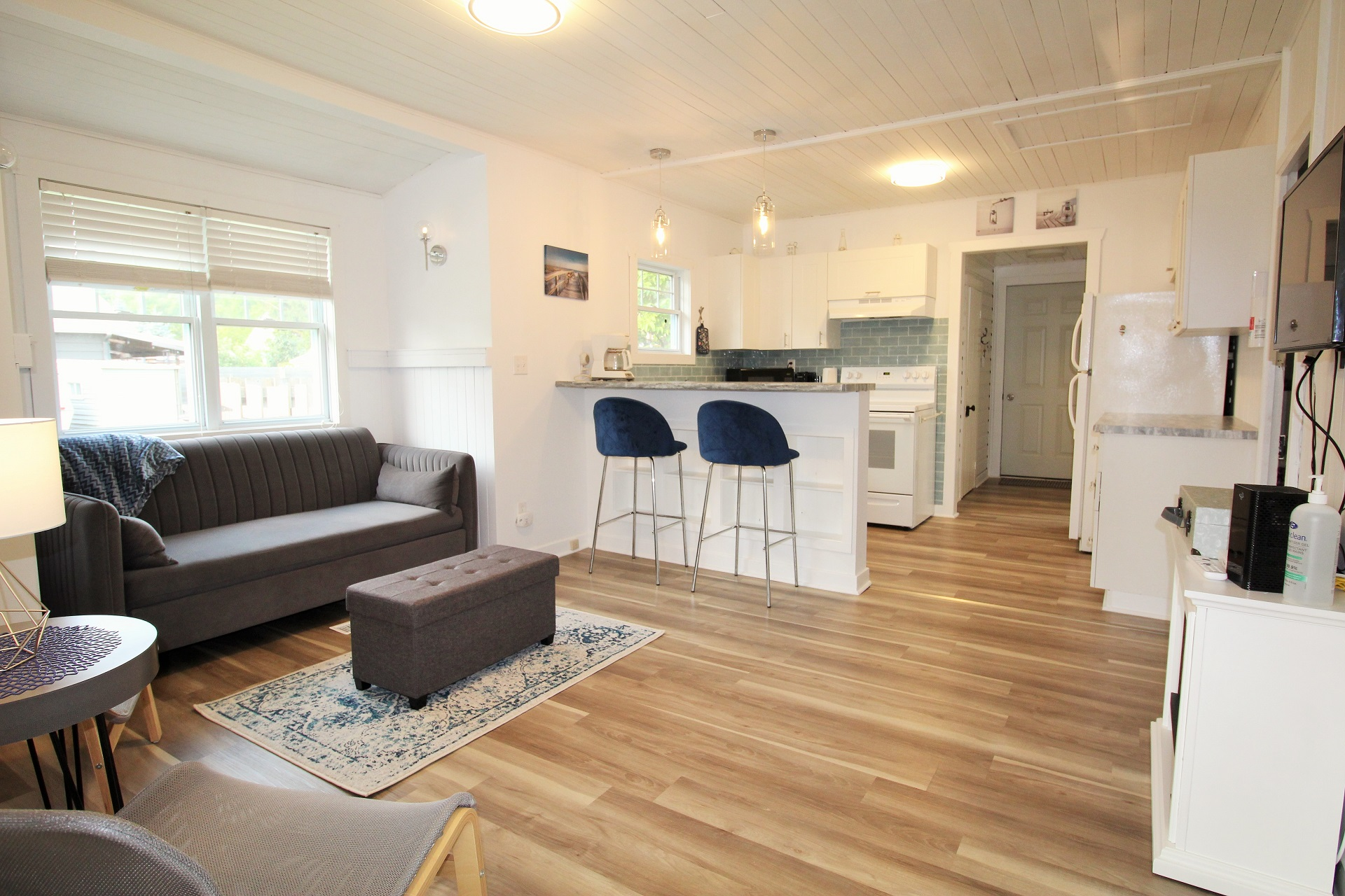 Mary Jane's Haven - living room and kitchen - Crystal Beach - Holiday Homes Property Management