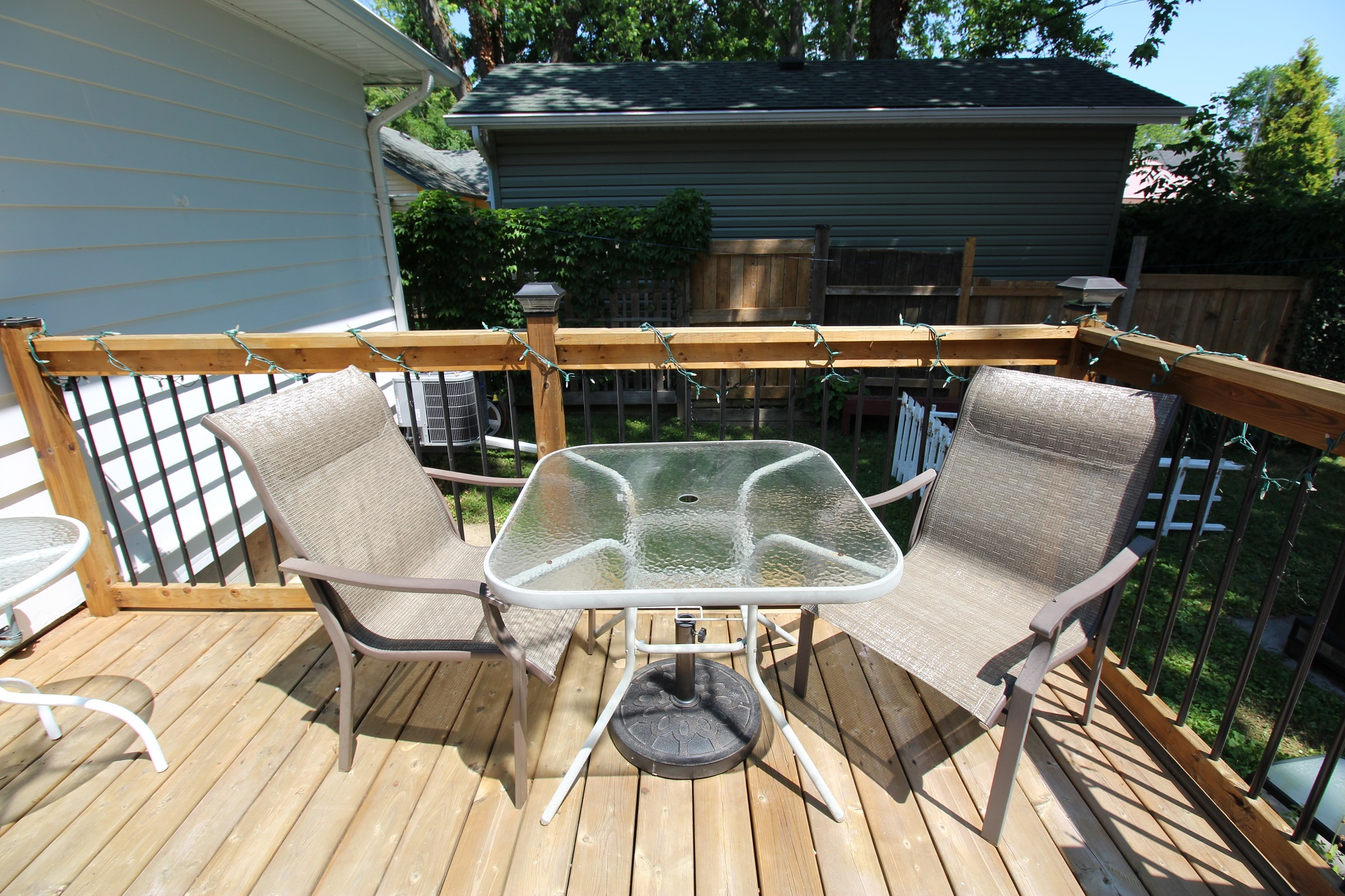 West Wind - back deck 2- crystal beach, on - holiday homes property management