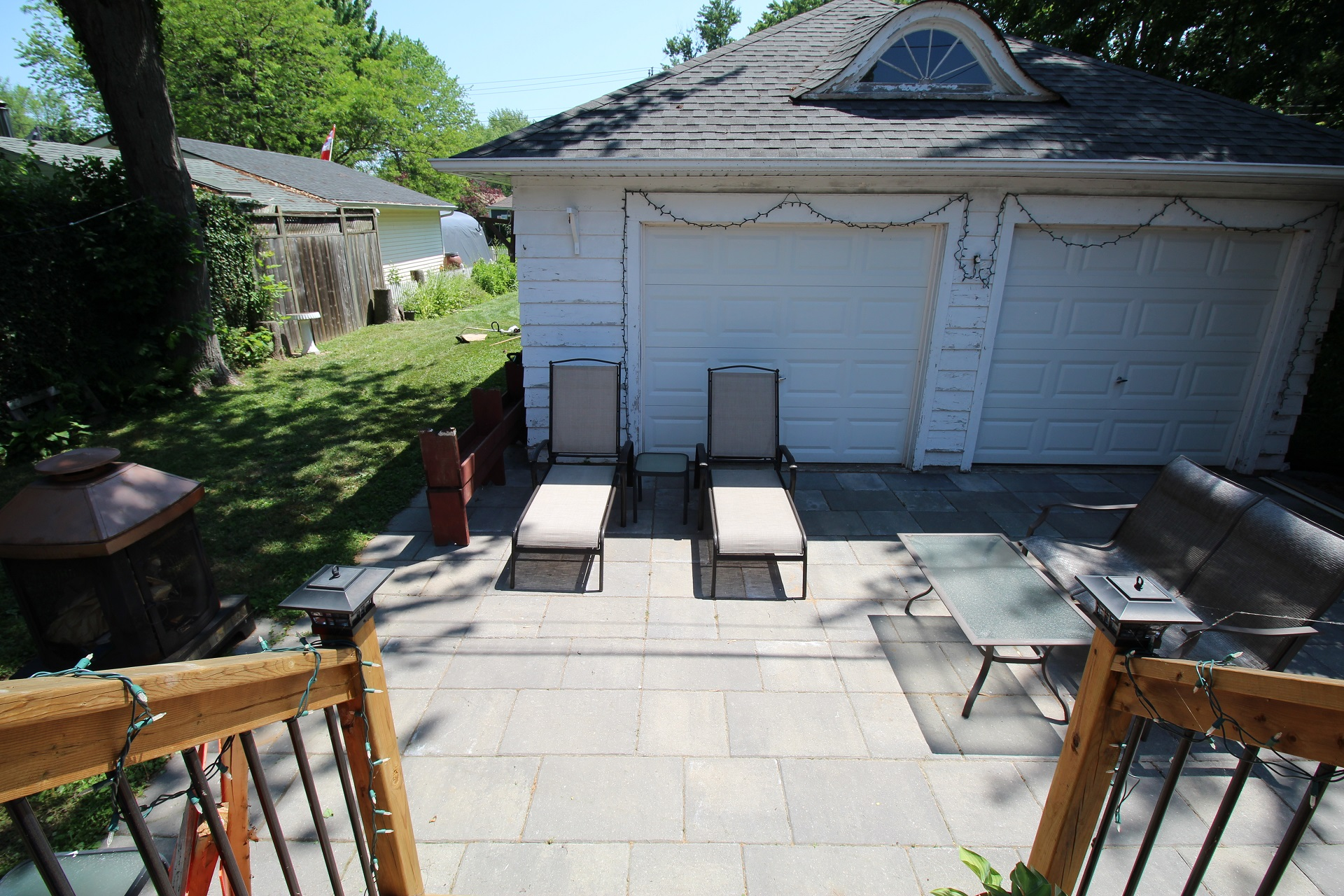 West Wind - back yard - crystal beach, on - holiday homes property management