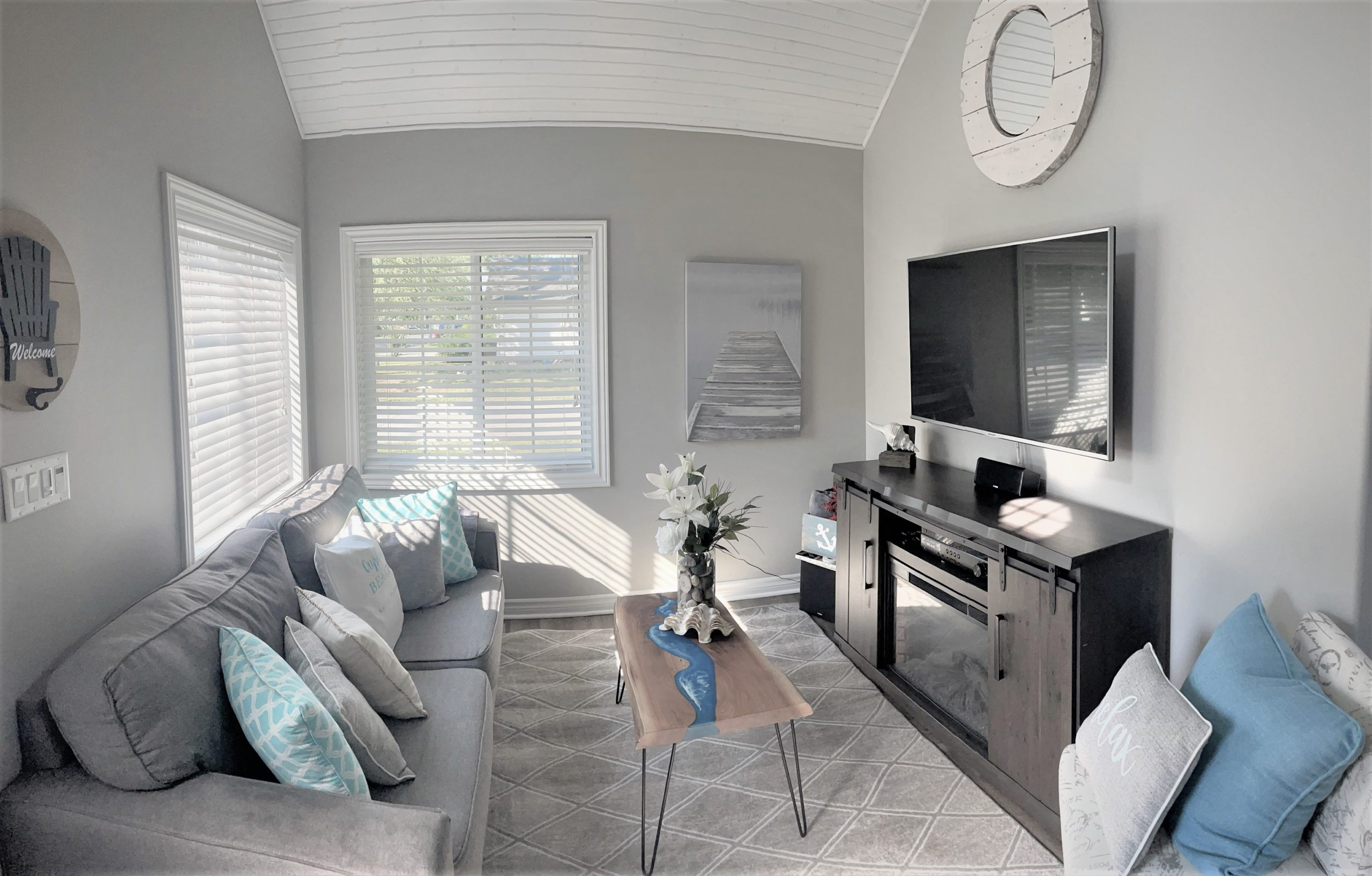 Home Away From Home-Living Room2-Holiday Homes Property Management-Crystal Beach ON